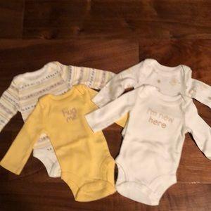 4 newborn long sleeves onesies